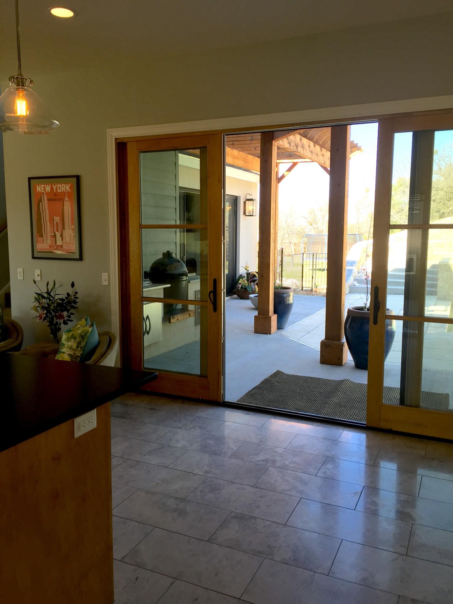 PDD design home patio sliding doors – Palmer Davis Design LLC