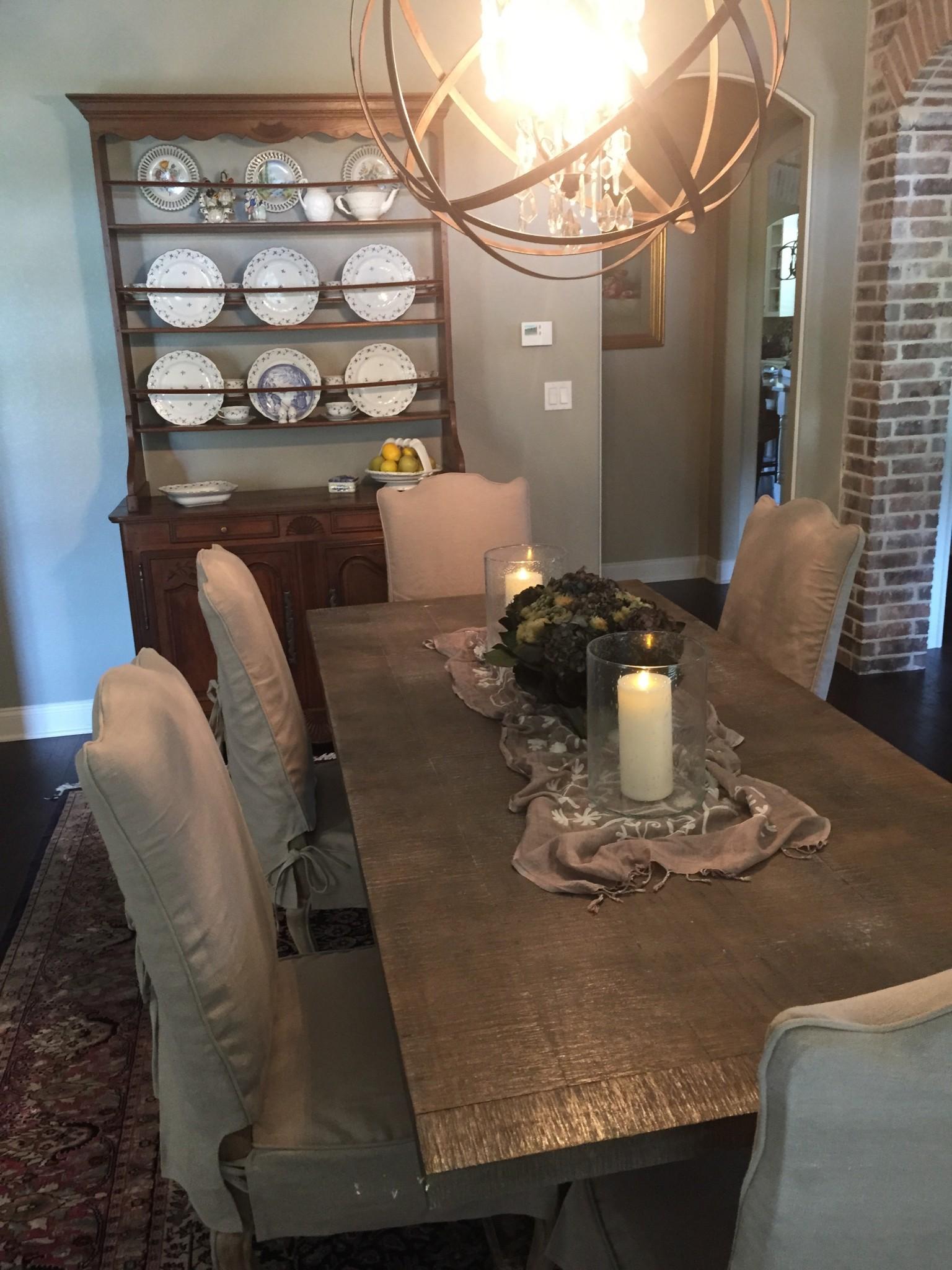 Transitional Dining Table China Cabinet Palmer Davis Design LLC